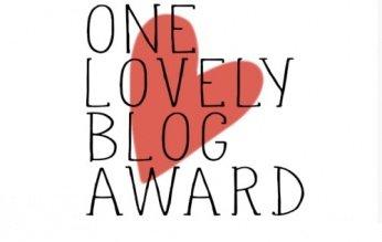 award - One lovely blog award - Wir wurden nominiert und nominieren gern weiter! -
