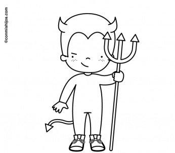 malvorlage verkleidung teufel 0 - Wenn das Kind zum Teufelchen wird... -