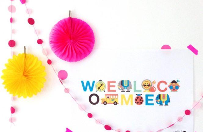 welcome1 665x435 - Das Welcome-Poster von by Graziela - so könnt Ihr Flüchtlingen helfen und das Kinderzimmer schmücken -