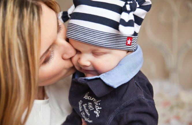 Die Liebe zwischen Mama und Kind.