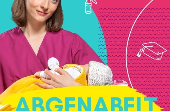 """Deutsche Hebammenhilfe Abgenabelt Social Media 1080x1080px 665x435 - """"Der weibliche Körper ist eine unfassbare Kampfmaschine"""" - Ein Gespräch über Geburten und Muttersein - Drei Frauen, die eine gemeinsame Webserie über Hebammen planen. Wir haben das Interview dazu:"""