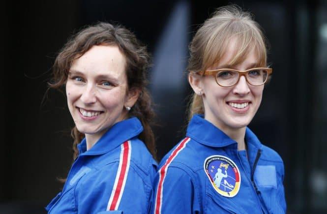 Insa und Suzanna 665x435 - Insa Thiele-Eich über Astronautinnen-Training, Homeschooling und Klimawandel - Wir haben mit Meteorologin Und Dreifachmutter Insa Thiele-Eich über Astronautinnen-Training, Homeschooling und Klimawandel gesprochen.