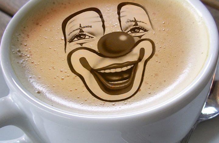 Clown gefrühstückt
